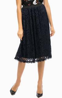 Расклешенная кружевная юбка средней длины More & More