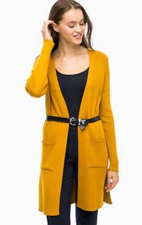 Длинный желтый кардиган с карманами More & More