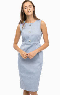 Синее платье-футляр без рукавов Darling