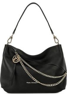 Черная сумка из мягкой кожи Fiato Dream