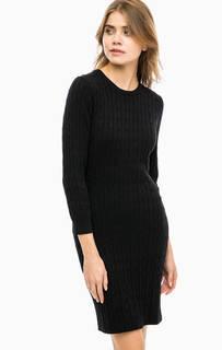 Трикотажное платье из хлопка с косами Gant