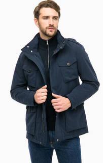 Синяя куртка со скрытым капюшоном Gant