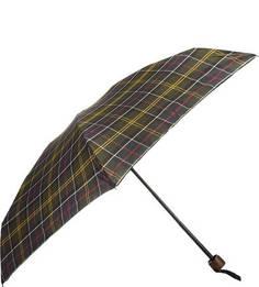 Складной зонт с куполом в клетку Barbour