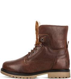 Утепленные кожаные ботинки Wrangler