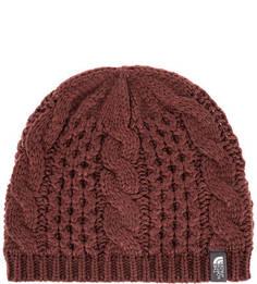 Бордовая шапка с подкладкой The North Face