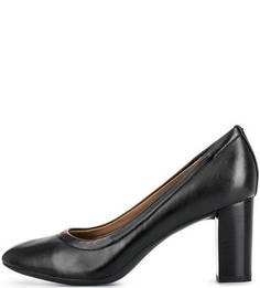 Кожные туфли на устойчивом каблуке Clarks
