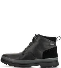 Кожаные ботинки с замшевыми вставками Clarks