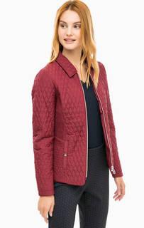 Бордовая стеганая куртка Olsen