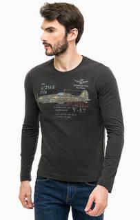 Хлопковая футболка с принтом Aeronautica Militare