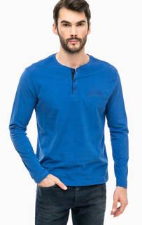 Хлопковая футболка с пуговицами на воротнике Blue Seven