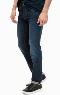 Зауженные джинсы на болтах с заломами Gas