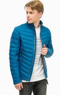 Синяя куртка с воротником-стойкой Tom Tailor