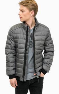 Серая куртка с контрастными вставками Tom Tailor