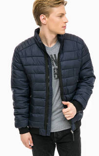 Синяя куртка с контрастными вставками Tom Tailor