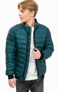 Бирюзовая куртка с контрастными вставками Tom Tailor