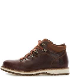 Коричневые демисезонные ботинки Timberland