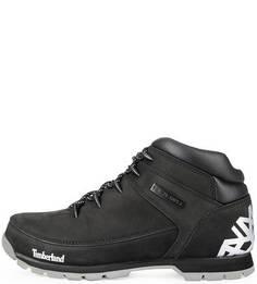 Черные ботинки на шнуровке Timberland