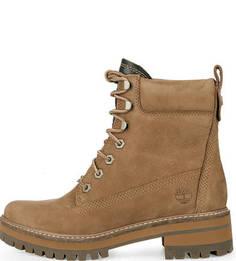 Высокие коричневые ботинки из нубука Timberland