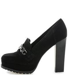 Черные замшевые туфли на высоком каблуке Guess