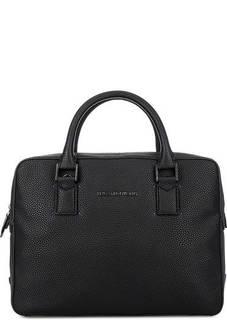 Черная сумка с широким плечевым ремнем Trussardi Jeans