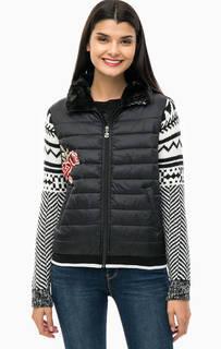 Куртка на молниии с вышивкой Desigual