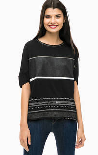Черная футболка с короткими рукавами Desigual