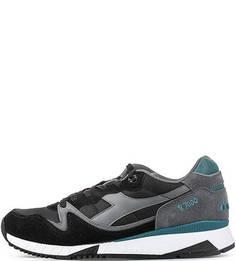 текстильные кроссовки с контрастными вставками Diadora