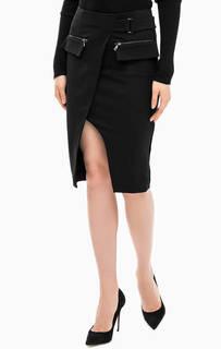 Черная юбка с запахом Marciano Guess