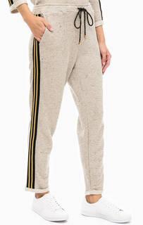 Укороченные брюки с нашивками по бокам Kocca