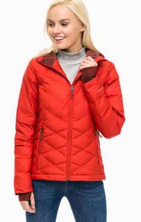 Легкая красная куртка с капюшоном Columbia