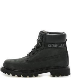 Утепленные зимние ботинки из нубука Caterpillar