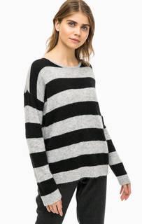 Серый джемпер оверсайз в полоску Calvin Klein Jeans