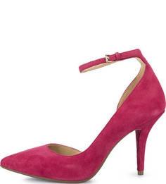 Замшевые туфли цвета фуксии на каблуке Michael Michael Kors