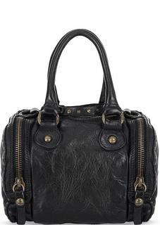 Маленькая кожаная сумка черного цвета Campomaggi