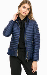 Синий стеганый пуховик с карманами Michael Michael Kors