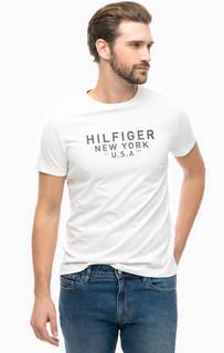 Белая футболка с принтом Tommy Hilfiger
