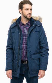 Удлиненная куртка со съемным капюшоном Hilfiger Denim