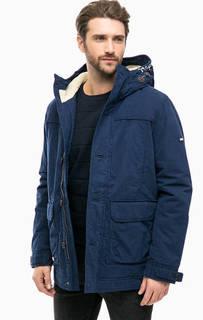 Синяя хлопковая куртка с карманами Hilfiger Denim