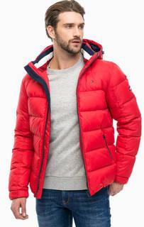 Красный пуховик со съемным капюшоном Hilfiger Denim
