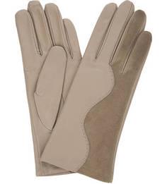 Кожаные перчатки с замшевыми вставками Eleganzza