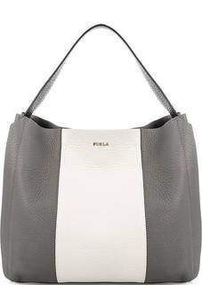 Кожаная сумка с широкой ручкой Furla