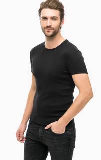 Черная футболка из хлопка Mavi