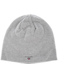 Серая хлопковая шапка Gant