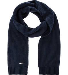 Синий вязаный шарф Gant