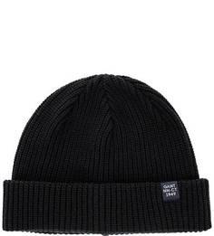 Хлопковая вязаная шапка Gant