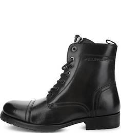 Высокие кожаные ботинки на каблуке Pepe Jeans