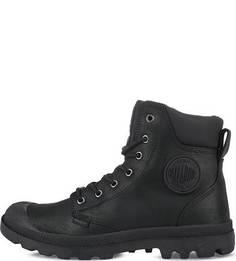 Черные ботинки из нубука и кожи Palladium