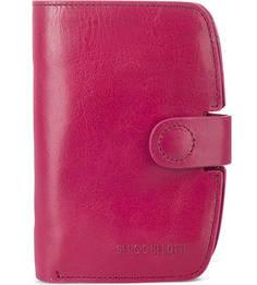Кожаное портмоне цвета фуксии Sergio Belotti