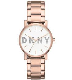 Кварцевые часы с золотистым браслетом Dkny