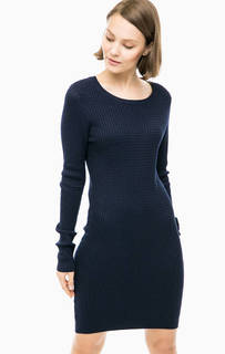 Короткое синее платье-свитер Vero Moda